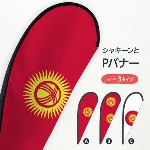 キルギス共和国国旗 Pバナー|goods-pro