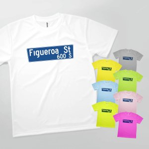 Tシャツ LOS ANGELES STREET NAME SIGN goods-pro