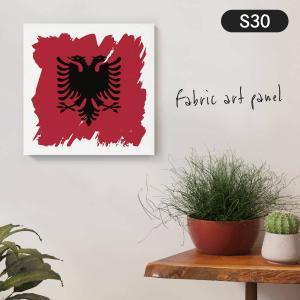 アルバニア共和国国旗 ファブリックパネル goods-pro