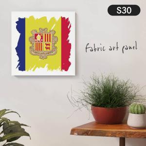 アンドラ公国国旗 ファブリックパネル goods-pro