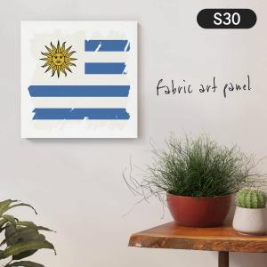 ウルグアイ東方共和国国旗 ファブリックパネル goods-pro