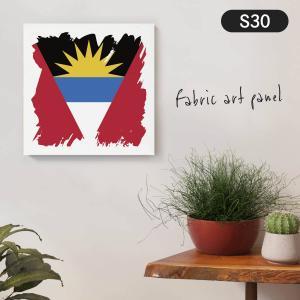アンティグア・バーブーダ国旗 ファブリックパネル goods-pro