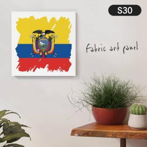エクアドル共和国国旗 ファブリックパネル goods-pro