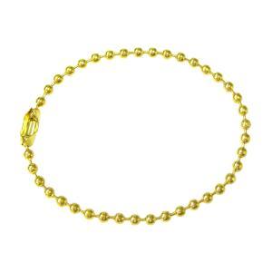 ボールチェーン2mm玉×12cm 10本セット(ゴールド)|goods-pro
