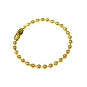 ボールチェーン2.5mm玉×10cm 10本セット(ゴールド)|goods-pro
