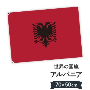 アルバニア共和国 国旗 W75cm H50cm|goods-pro