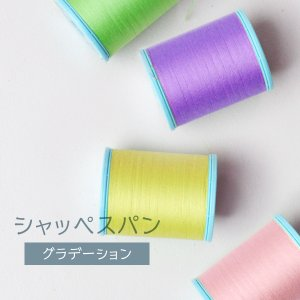 シャッペスパン ミシン糸 60番 グラデーション 200m goods-pro