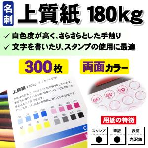 一般名刺 300枚 両面 上質紙180kg|goods-pro