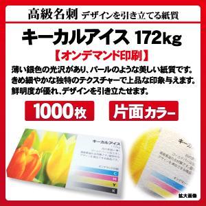 高級名刺 1000枚 片面 キーカルアイス172kg|goods-pro