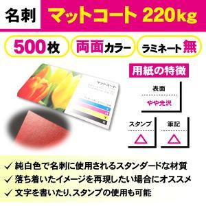一般名刺 500枚 両面 マットコート220kg ラミネート無し|goods-pro