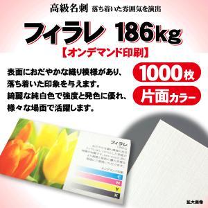 高級名刺 1000枚 片面 フィラレ186kg|goods-pro