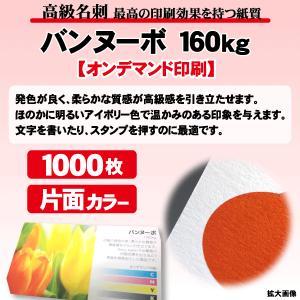 高級名刺 1000枚 片面 バンヌーボ160kg