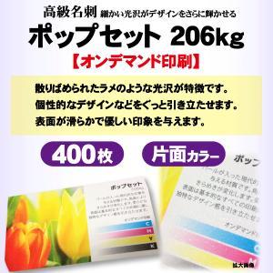 高級名刺 400枚 片面 ポップセット206kg|goods-pro