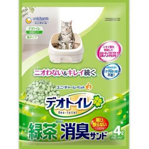 ユニ・チャーム デオトイレ 飛び散らない緑茶成分入り消臭サンド 4L|goodsbank