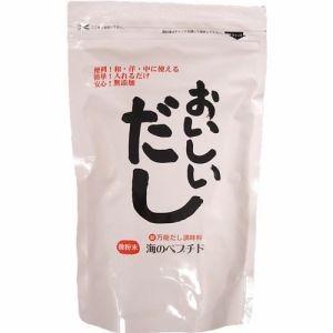 「おいしいだし」の原料は、いわし、こんぶ、かつお、 無臭にんにくを使用。天然素材100%の旨みが い...