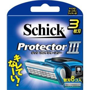 【メール便 2個以上のご購入で送料無料】シック プロテクタースリー 替刃8コ入