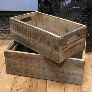 ウッドボックス 2セット ガーデニンググッズ 収納ボックス|goodsfarm
