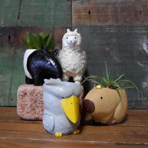 珍獣 ポット LITTLE RESIN POT リトルレジンポット ガーデニング プランター 鉢 goodsfarm