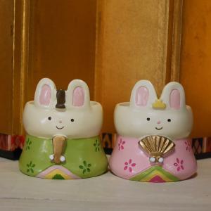 ひな祭り うさぎ ポット LITTLE RESIN POT リトルレジンポット ガーデニング プランター 鉢 goodsfarm