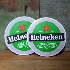 ハイネケン ラバーコースター 2枚セット Heineken goodsfarm