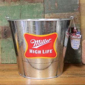 Miller HIGH LIFE ティンバケツ ワインクーラー ミラービール|goodsfarm