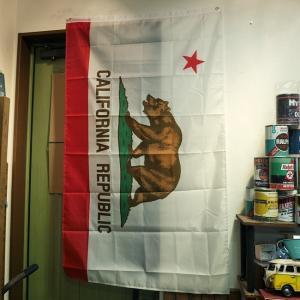 カリフォルニア 州旗 タペストリー フラッグ CALIFORNIA アメリカン雑貨|goodsfarm