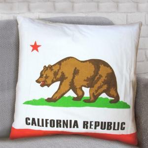 CALIFORNIA アメリカン クッション アメリカン雑貨 カリフォルニア 背当てクッション|goodsfarm