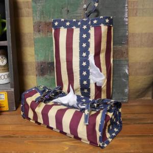 星条旗 アメリカン ティッシュカバー アメリカン雑貨 ティッシュBOX|goodsfarm