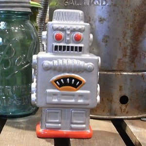 ロボット 貯金箱 インテリア スモーキングロボット アメリカン雑貨|goodsfarm