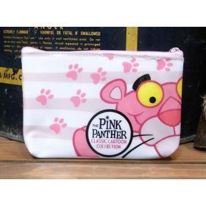 アメリカン ビニールポーチ ピンクパンサー 化粧ポーチ アメリカン雑貨|goodsfarm