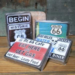ルート66 マルチフリー缶 アメリカン ステンレスケース 収納 小物入れ goodsfarm