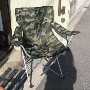 迷彩 カモフラージュ 折り畳み椅子 フォールディング チェア アウトドア|goodsfarm