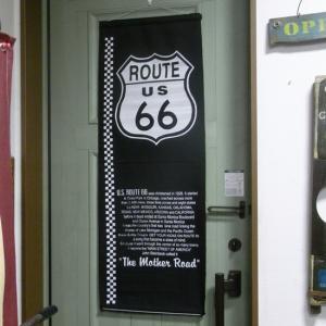 ルート66 ナイロンフラッグ タペストリー ROUTE66 インテリア goodsfarm