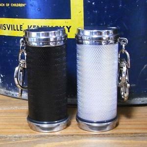 携帯灰皿 アッシュシリンダー キーホルダー型灰皿 エンジンタン ブラック シルバー goodsfarm 02
