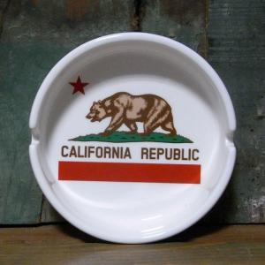 カリフォルニア ラウンド型灰皿 CALIFORNIA REPUBLIC 卓上灰皿|goodsfarm
