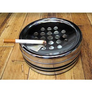 灰皿 卓上 クロームライン灰皿 業務用灰皿 卓上灰皿 アメリカン雑貨|goodsfarm