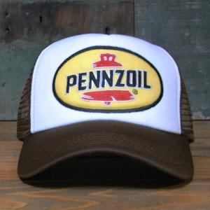 ペンズオイル メッシュ キャップ PENNZOIL 帽子 アメリカン雑貨|goodsfarm