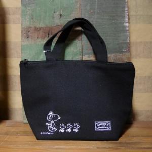 スヌーピー 保冷 ランチバッグ PEANUTS スヌーピー&ウッドストック トートバッグ|goodsfarm