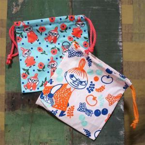 ムーミン 巾着袋 給食袋 きんちゃく コップ袋 リトルミイ MOOMIN|goodsfarm
