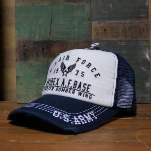 AVIREX 帽子 US AIR FORCE EMB MESH CAP メッシュキャップ アヴィレックス ミリタリー|goodsfarm