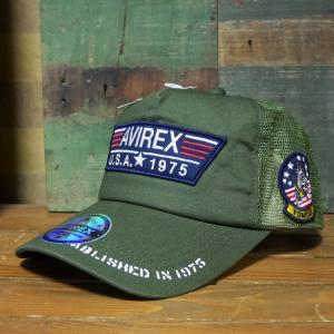 AVIREX 帽子 TP PATCH MESH CAP メッシュキャップ アヴィレックス ミリタリー|goodsfarm