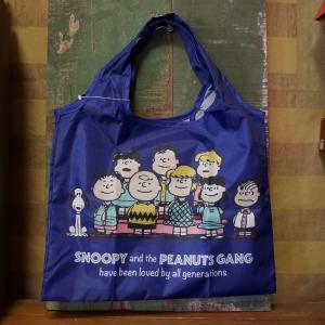 スヌーピー ミニショッピングバッグ SNOOPY エコバッグ PEANUTS ピーナッツギャング 70周年記念|goodsfarm