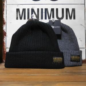 ALPHA INDUSTRIES アルファインダストリーズ ニット帽子 メンズ レディース リブロウニットワッチ ニットキャップ|goodsfarm