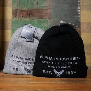 ALPHA INDUSTRIES アルファインダストリーズ ニット帽 リバーシブル メンズ PRINT EST1959 WATCH CAP goodsfarm