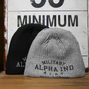 ALPHA INDUSTRIES アルファインダストリーズ ニット帽子 リバーシブル メンズ USAF プリントニットキャップ goodsfarm