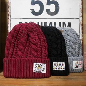 ムーミン ケーブルニットキャプ メンズ レディース ニット帽|goodsfarm