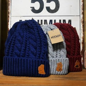 ムーミン ケーブルニットキャプ メンズ レディース キッズ ニット帽|goodsfarm