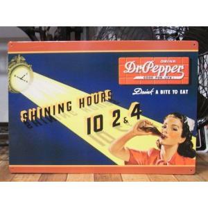 ブリキ看板 Dr.Pepper ドクターペッパー インテリア メタルサインプレート アメリカン雑貨|goodsfarm