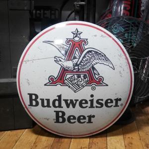 Budweiser メタルドームサイン ブリキ看板 バドワイザー インテリア goodsfarm