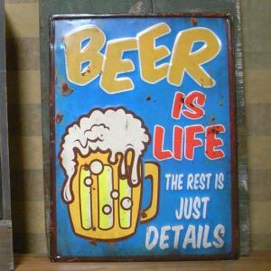 エンボス ブリキ看板 ビール インテリア BEER goodsfarm